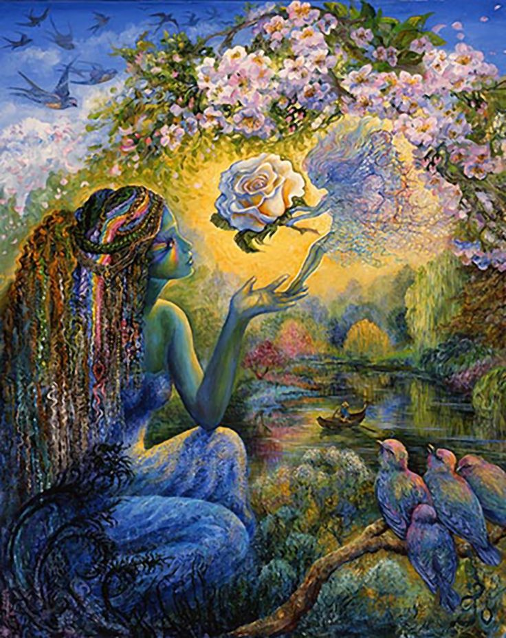 """The Messenger 2"" par Josephine Wall"