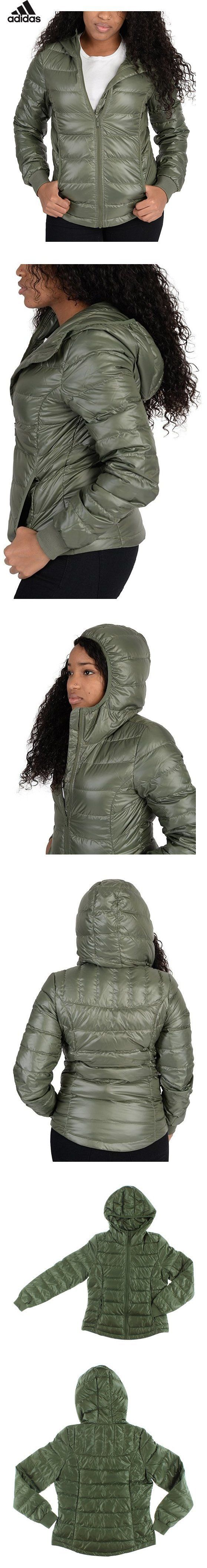 $74.94 - Adidas Womens Utility Low Down Jacket Olive Green L
