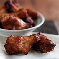 ailes de poulet roties