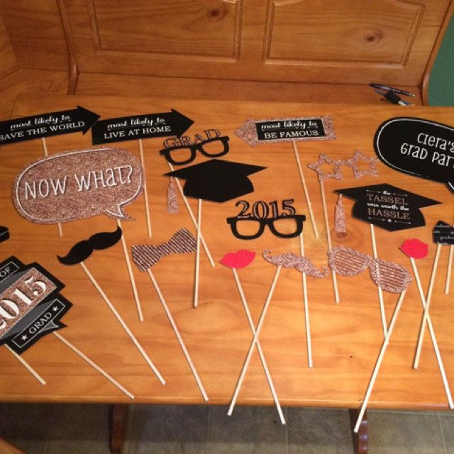 FUN! Graduation Photo Booth Props from BigDotOfHappiness.com