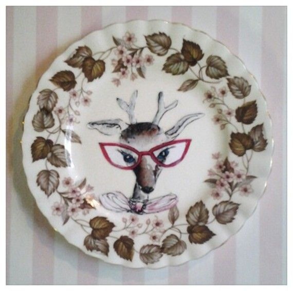 Quirky plates by Terry Angelos via www.deZAign.com