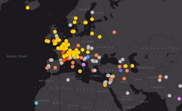 Map of Cheese Found Around the World.  This sharp interactive will make you feel gouda all over.