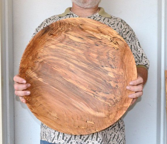 XXLarge 19\  Red Elm wood Bowl centerpiece fruit bowl salad bowl bread bowl hand turned & 71 best wood turned platters and plates images on Pinterest | Wood ...