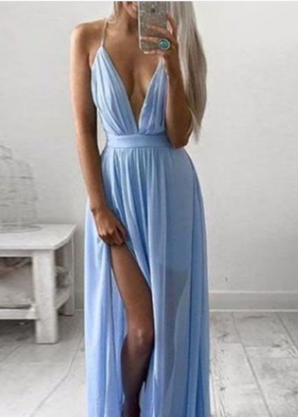 how to wear a deep v dress