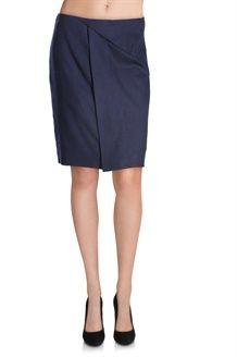 Falda de Lana<BR>Azul Marino