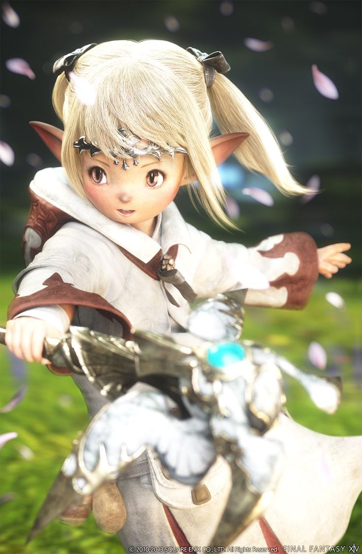 #AweSomEilluStrationS Lalafell White Mage from Final Fantasy XIV: A Realm Reborn