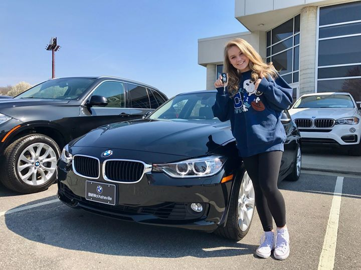 Congratulations to Sydney B. on the purchase of her 1st car...a beautiful 2014 #BMW #335XI which she purchased at BMW of Asheville with our Team Member Brendan Smith. Welcome to the BMW & Fields Auto Group families Sydney! #FieldsBMW #BMW
