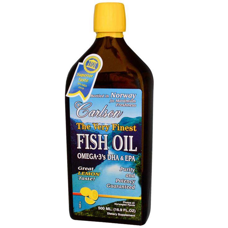 Carlson Labs, The Very Finest Fish Oil, Lemon, 16.9 fl oz (500 ml)