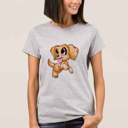#Hand Drawn Golden Retriever Dog Art Women's Tshirt - #golden #retriever #puppy #retrievers #dog #dogs #pet #pets #goldenretriever