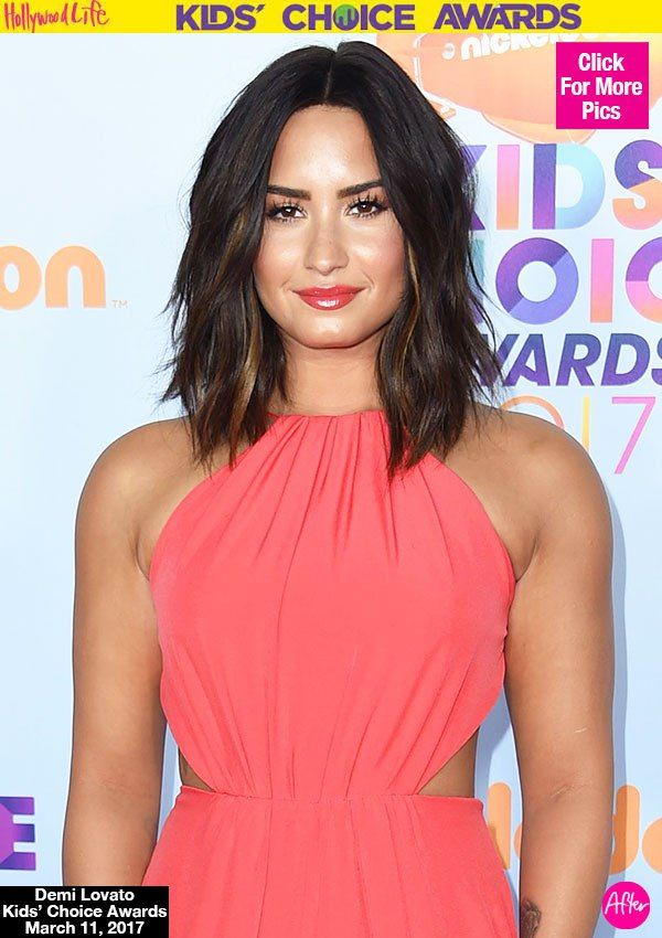Demi Lovato Reveals Major Hair Makeover At KCAs — See Her Short Lob Cut
