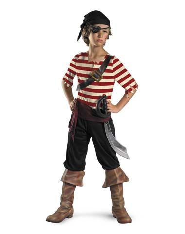 Pirate Costume Idea.  belt across the chest.  black head scarf.