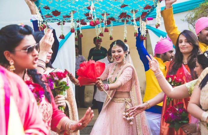 Photographer - Bride StepUp under Phoolon Ki Chadar Photos, Hindu Culture, Cream Color, Group Dance, Bride Dance, Bridal Photography  pictures, images.