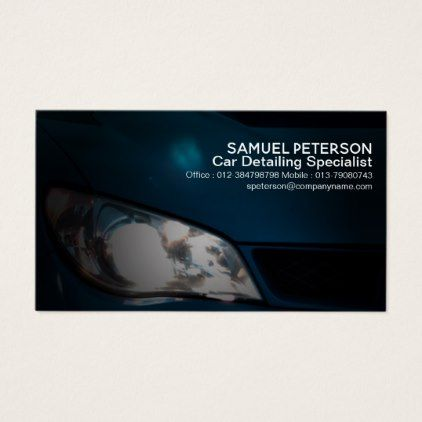 Car Headlights Auto Detailing Professional Card - simple gifts custom gift idea customize