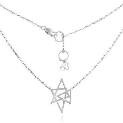 Atria Necklace in Sterling Silver with Diamond - GITTE SOEE Jewellery - Shop Online www.gittesoee.com