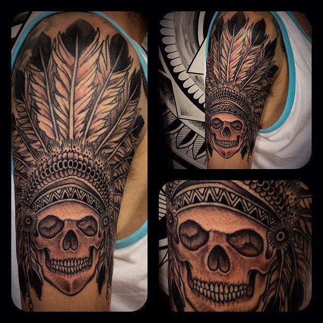 jakatattoo #tattoo #tatuagem #kustomworkstattoo #kw #indio #apache # ...
