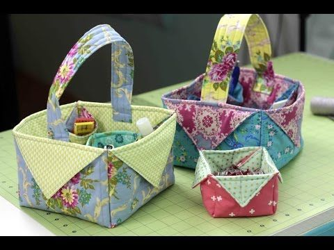 Fabric Box & Basket - DIY Sewing Tutorial - YouTube