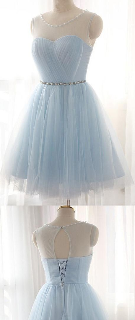 Short Prom Dresses, Blue Prom Dresses, Lace Prom Dresses, Prom Dresses Short, Light Blue Prom Dresses, Blue Homecoming Dresses, Princess Prom Dresses, Prom Dresses On Sale, Prom dresses Sale, A Line dresses, Light Blue dresses, Short Homecoming Dresses, Lace Up Homecoming Dresses, Bandage Prom Dresses, Mini Prom Dresses, A-line/Princess Prom Dresses