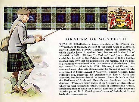 Graham Family (Menteith) Coat of Arms (?) and Tartan