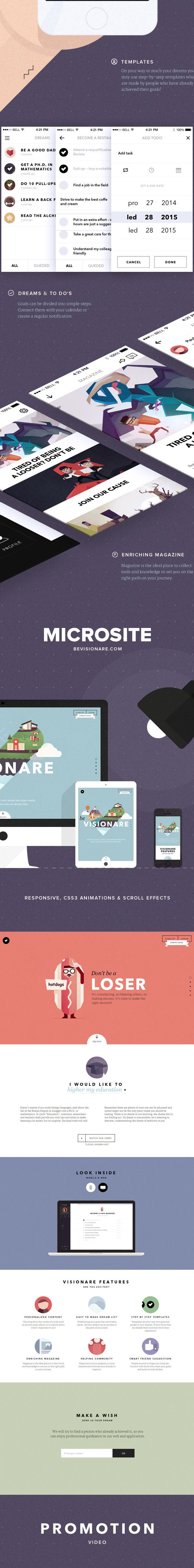 Visionare IOS Mobile App on Behance in UI