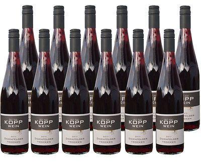 12 Fl. erlesener 15er Dornfelder trocken 0,75l KOPP Wein Pfalzsparen25.com , sparen25.de , sparen25.info