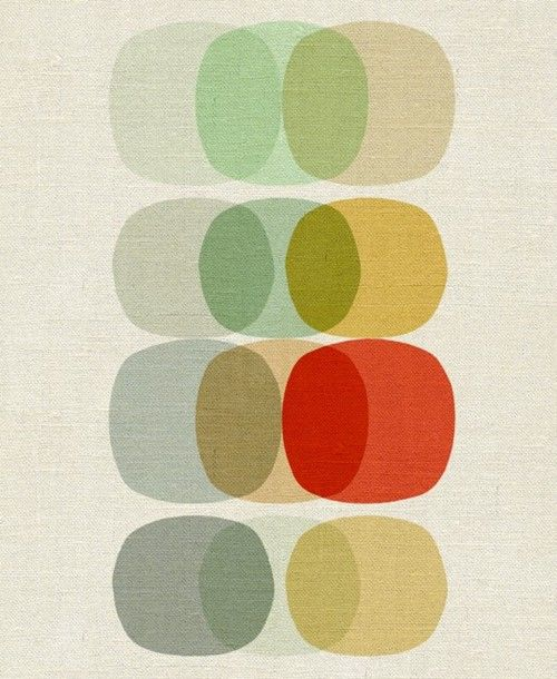 kramenstarb:    Keep It Simple Circle Art Reproduction Giclee Print A4 by inaluxe