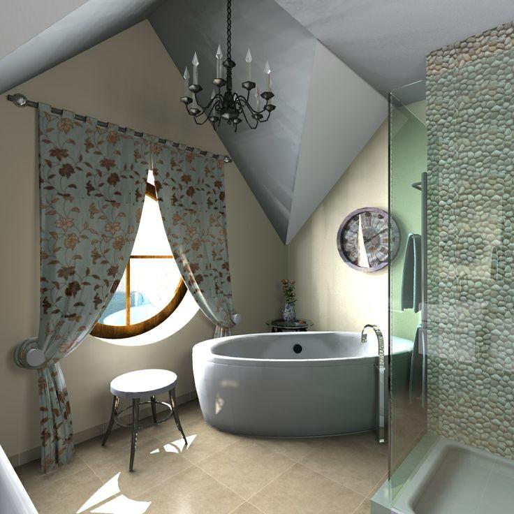 tetőtéri fürdő - szoba