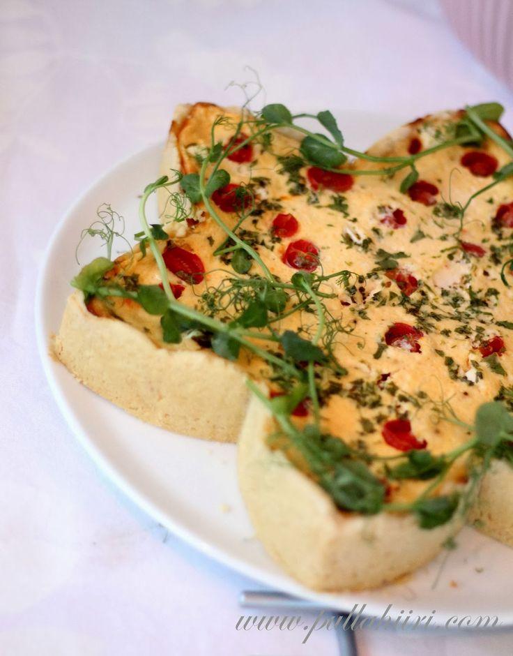 Pullahiiren leivontanurkka: Suolainen piirakka: Feta-tomaattipiirakka