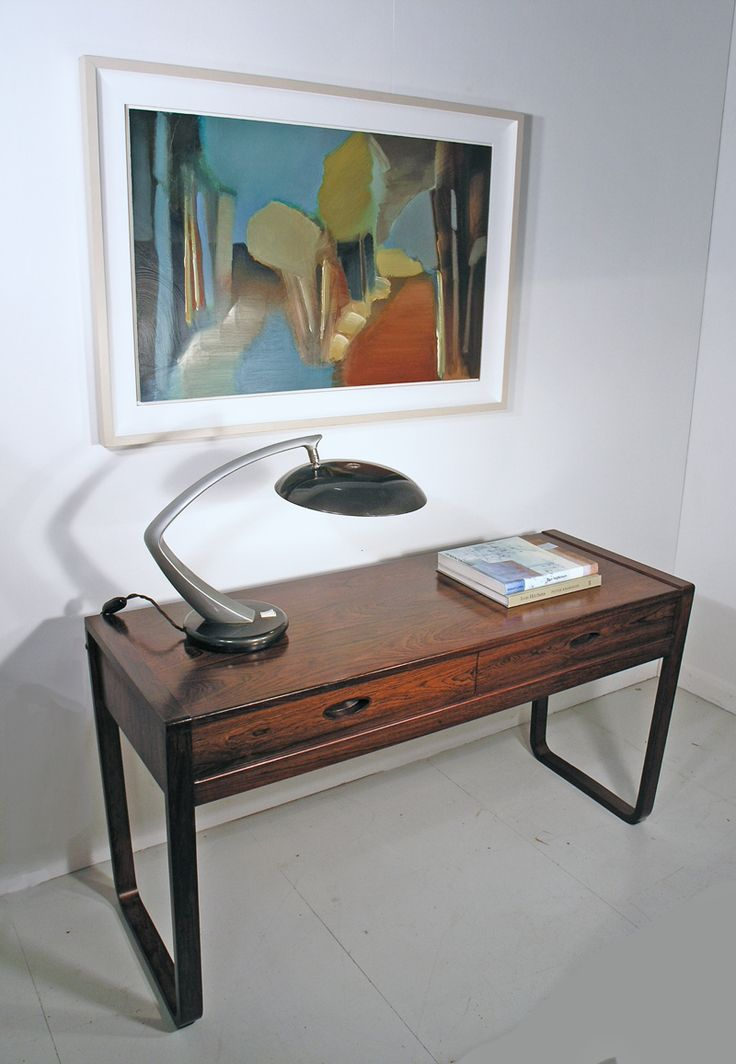 Gunther Hoffstead rosewood console table - painting 'Autumn Contrast' by Lindsey Hambleton
