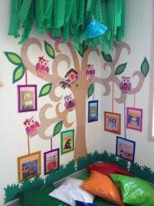 Que tal organizar um cantinho da leitura na sala de aula...quem vai querer ler, se deliciando embaixo desta árvore?