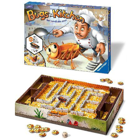 Ravensburger Bugs In The Kitchen Game Theres a pesky little bug in the kitchen. And its not just any bug - its a HEXBUG nano, scuttling around the game board. Quick - can you catch it in the trap? By turning knives, forks and spoons you c http://www.MightGet.com/february-2017-3/ravensburger-bugs-in-the-kitchen-game.asp