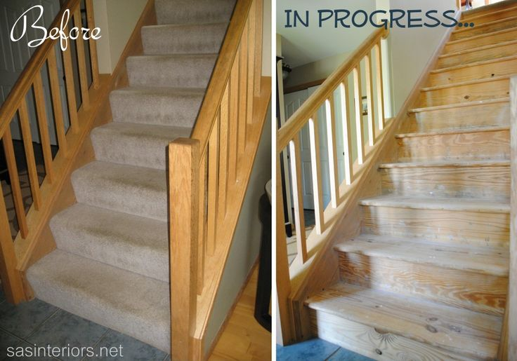 Refinishing Stairs Removing Carpet For The Home