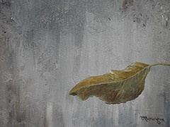 My painting of the last leaf