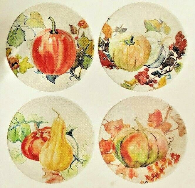 "Woodland Creatures Appetizer Tidbit Melamine Plates 6/"" set of 4 Lodge Rustic"