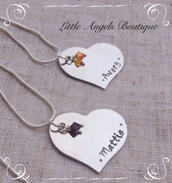 SALE Heart Shaped Personalized Name Custom by littleangelsboutique