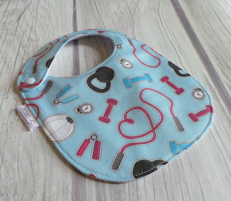 ORGANIC CrossFit Baby Bib / Fitness Baby Bib / Drool Bib / 100% Cotton / Gender Neutral Baby / Exercise / Personal Trainer / CrossFit Baby by JaybirdAndRo on Etsy https://www.etsy.com/listing/243625148/organic-crossfit-baby-bib-fitness-baby