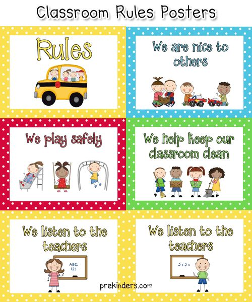 class rules poster...can be used for Sunday School                                                                                                                                                                                 More