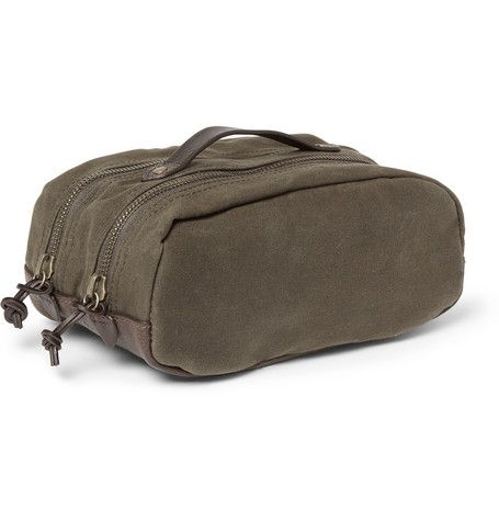 J.Crew Abingdon Waxed-Canvas and Leather Wash Bag