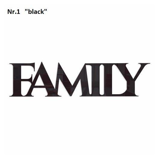 Napis na stenu FAMILY