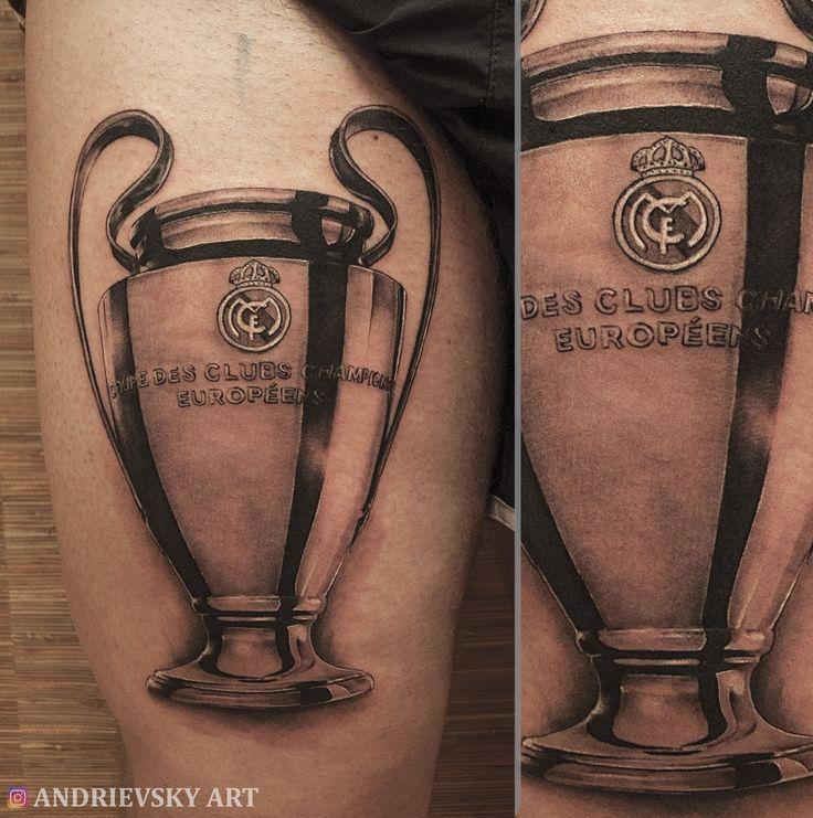 Real madrid, tattoo, кубок,cup, тату