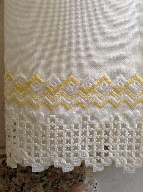 bordados ponto reto para toalhas de banhos - Pesquisa Google
