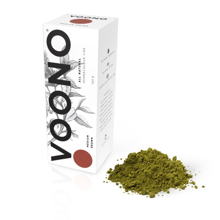 Barva na vlasy Medium brown 100% přírodní Voono. Využijte dopravu zdarma při nákupu nad 890 Kč nebo výdejní místo zdarma v naší kamenné prodejně NuSpring v Praze.