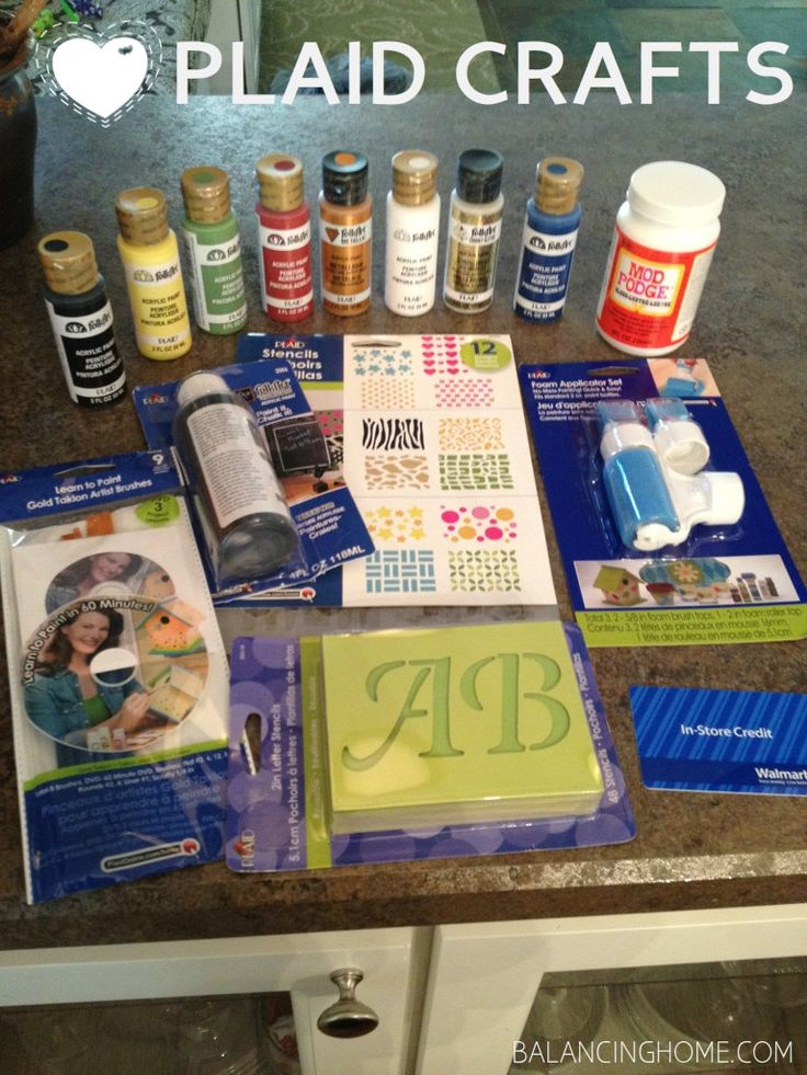 Paint, Mod Podge, Stencils, and other goodies from Plaid Crafts!Crafts Ideas, Idease Diy, Feelin Crafty, Plaid, Crafts Materials, Herbs Garden, Glasses Painting Etching Cov, Crafts Tutorials, Diy Projects