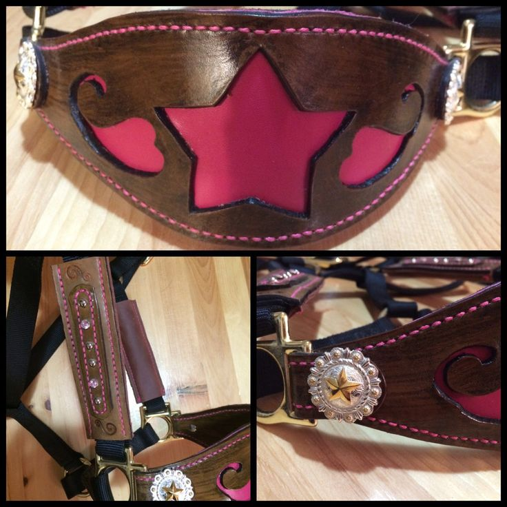 Kelly's Leather Design: Twelve Days of Christmas   On the fourth day of Christmas Kelly's Leather Design offers you: ❅ $15.00 off the Black Nylon Halter with Leather Bronc Noseband with Pink Star Inlay