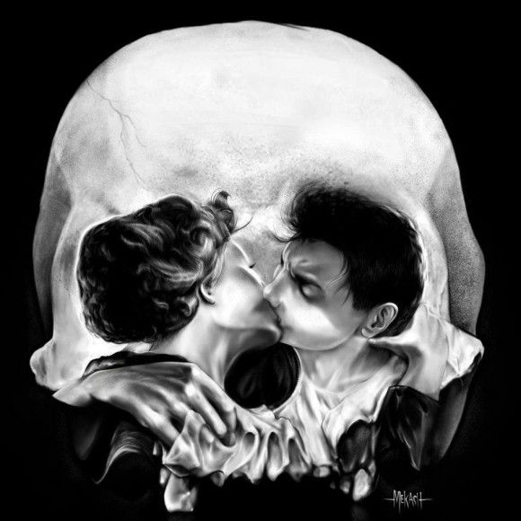 Kissing Skull Optical Illusion - http://www.moillusions.com/kissing-skull-optical-illusion/
