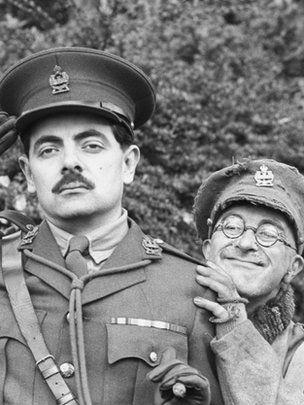 Rowan Atkinson and Tony Robinson-Blackadder