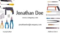 The electrical trade uses many tools so why not use them to market your company on a business card.