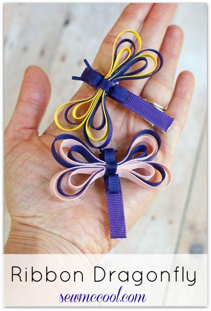 Ribbon dragonfly sculpture tutorial by sewmccool.com