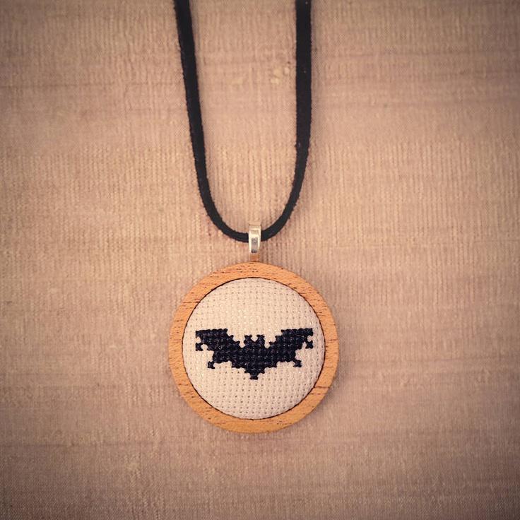 Cute cross stitch bat