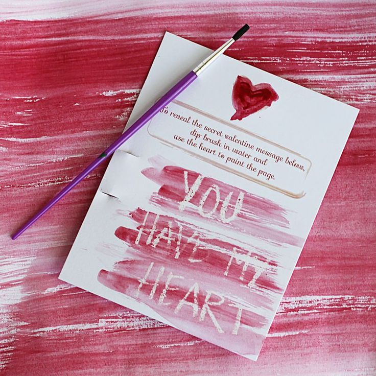 DIY Secret Message Valentine.  Free printable and tutorial.  Who doesn't love a secret message?