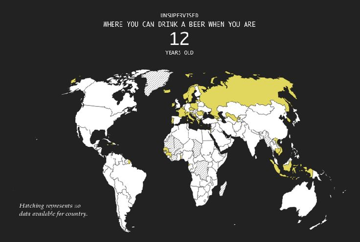 An Eye-Opening Map That Shows the Wide Range of Legal Drinking Ages Around the World